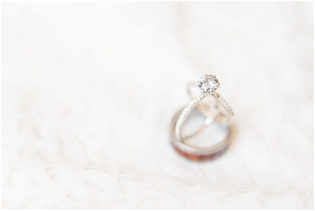 Wedding rings from a backyard wedding in West Lafayette, Indiana