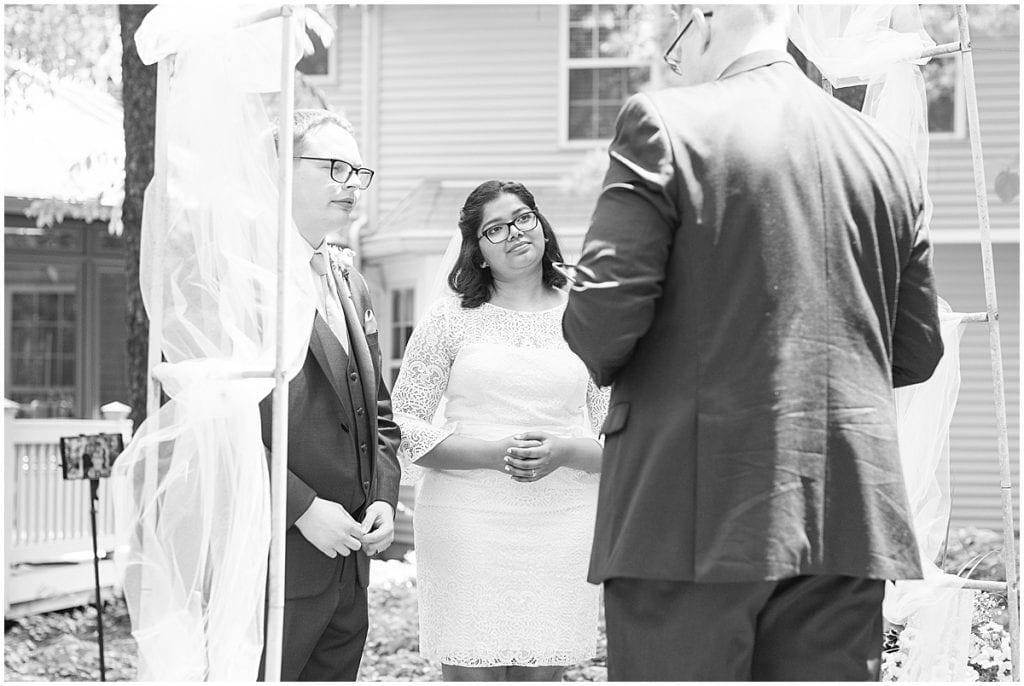 Backyard wedding in West Lafayette, Indiana
