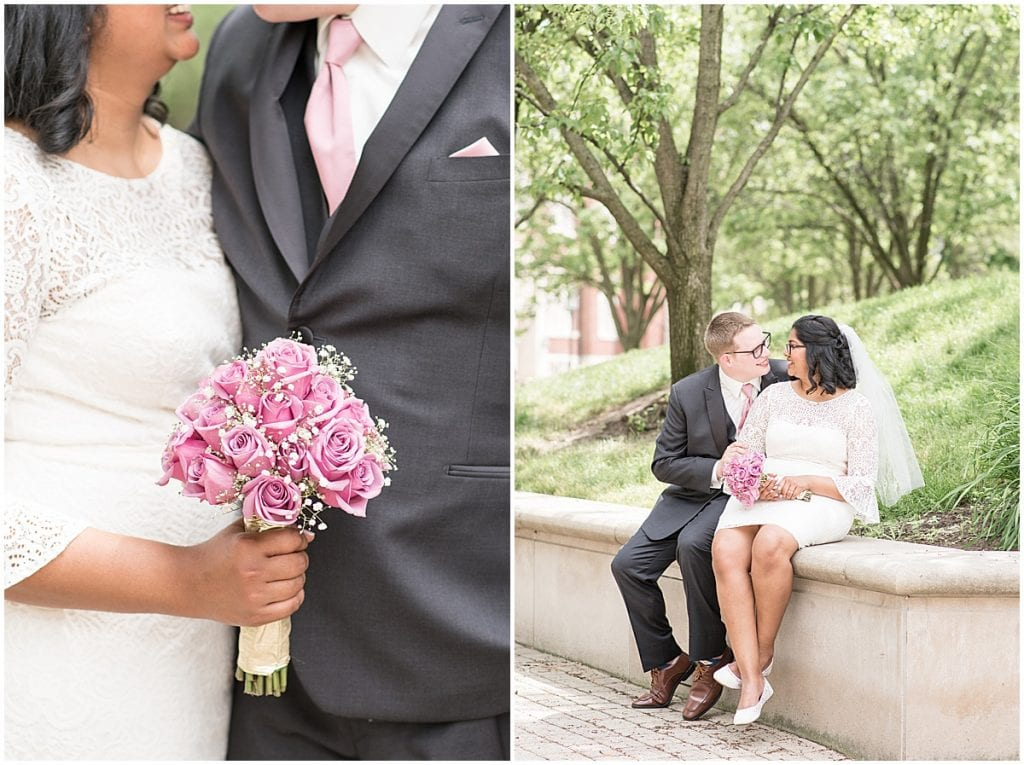 Bride and groom photos at Purdue University