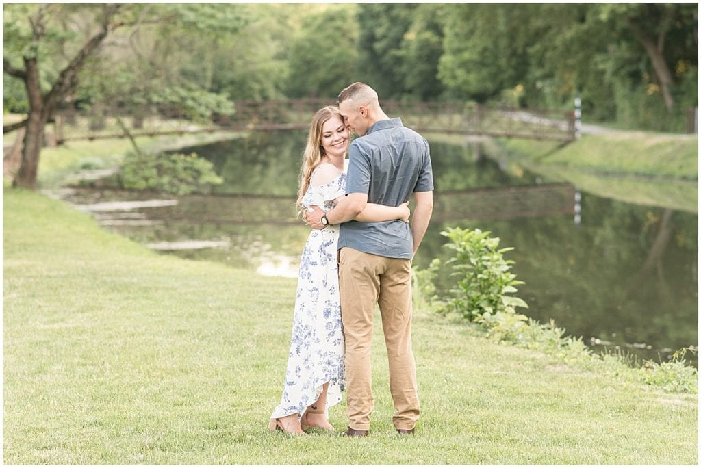 Holcomb Garden engagement photos at Butler University in Indianapolis