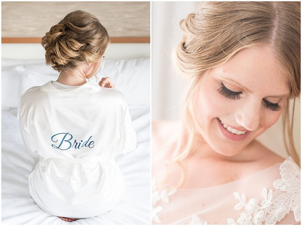 Bride getting ready for her big day.