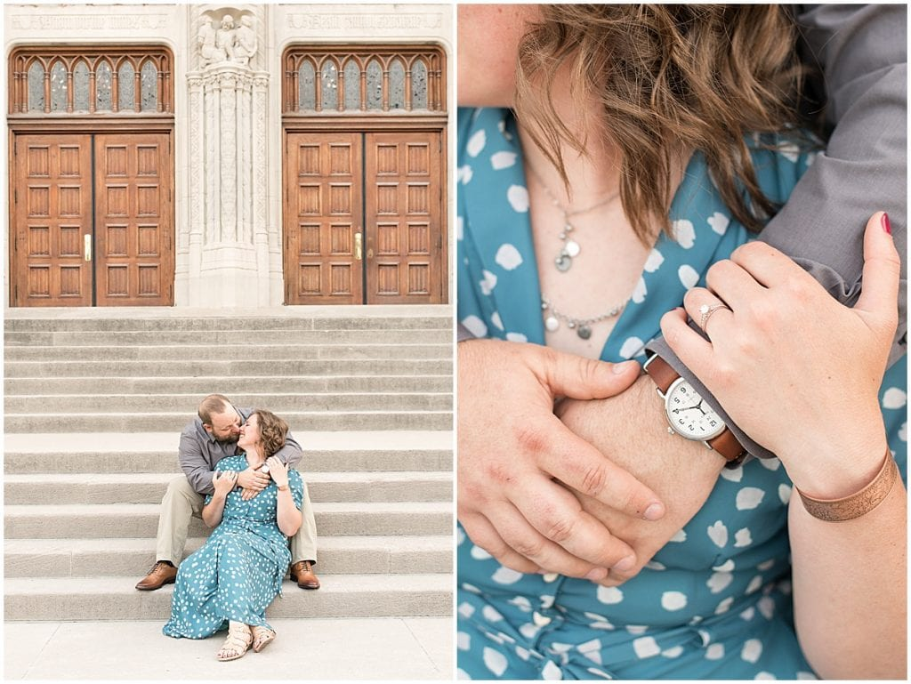 Summer engagement photos in downtown Indianapolis