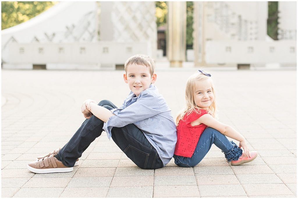 Summer family photos at Purdue University in West Lafayette, Indiana