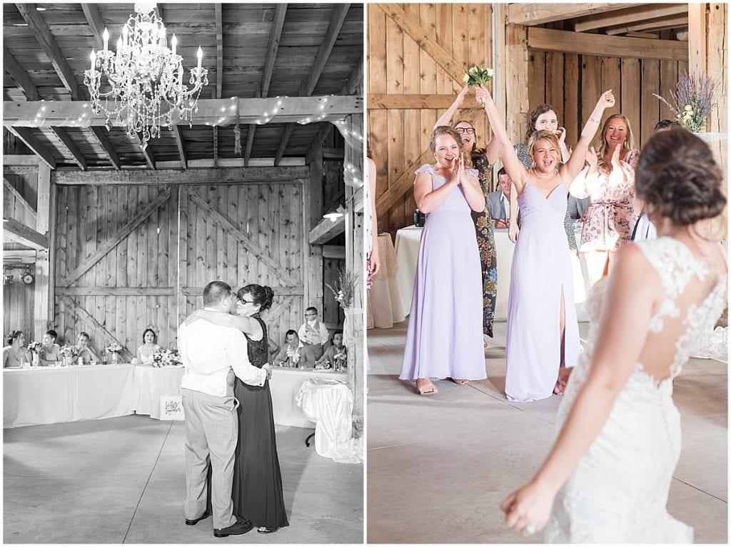 Wedding reception at Hunny Creek Haven in Waldron, Indiana