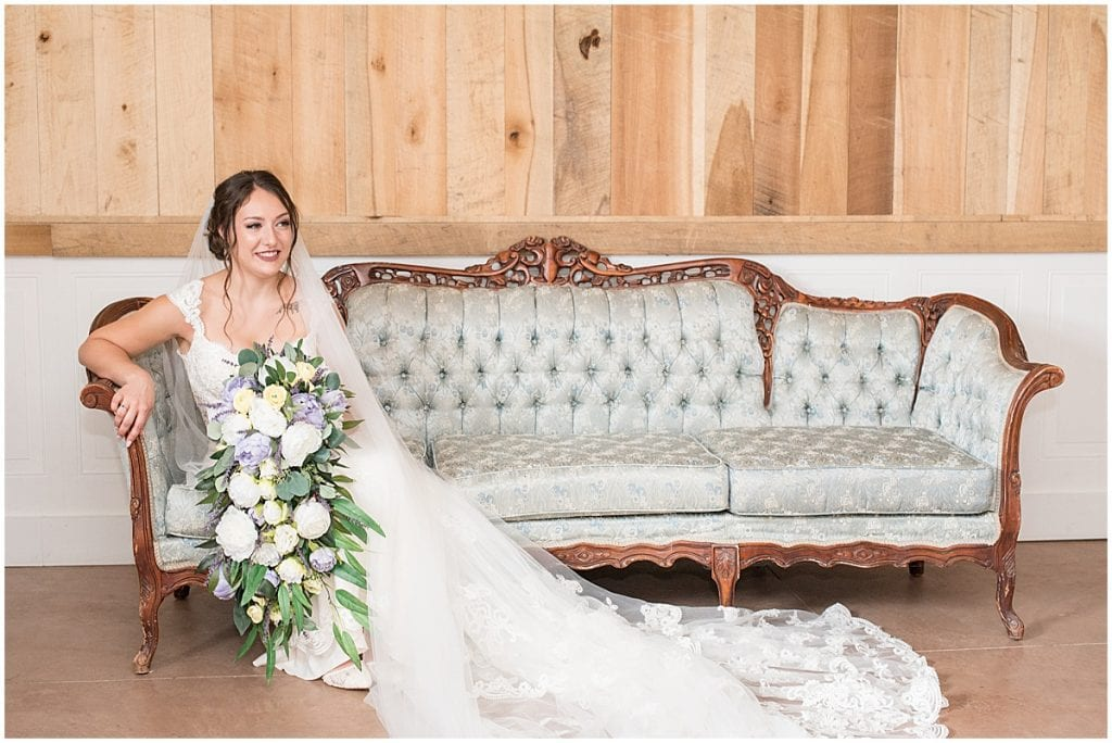 Bride before wedding at Hunny Creek Haven in Waldron, Indiana