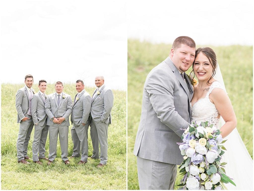 Bridal party at wedding at Hunny Creek Haven in Waldron, Indiana