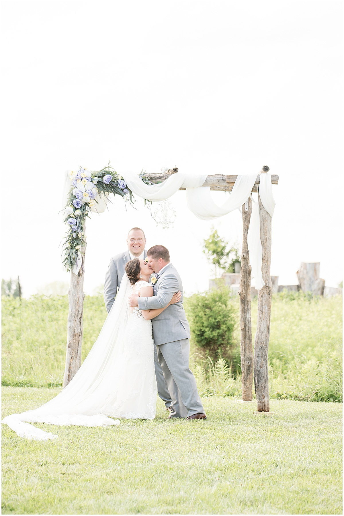 Wedding ceremony at Hunny Creek Haven in Waldron, Indiana