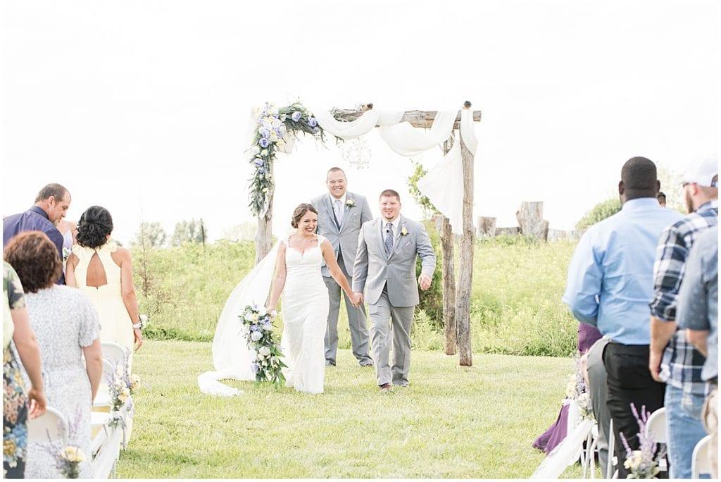 Outdoor wedding ceremony during mask mandates
