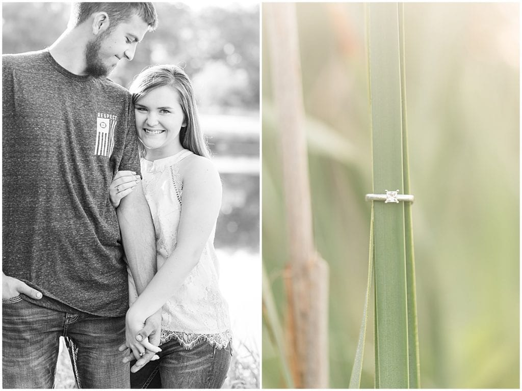 Engagement photos in Monticello, Indiana
