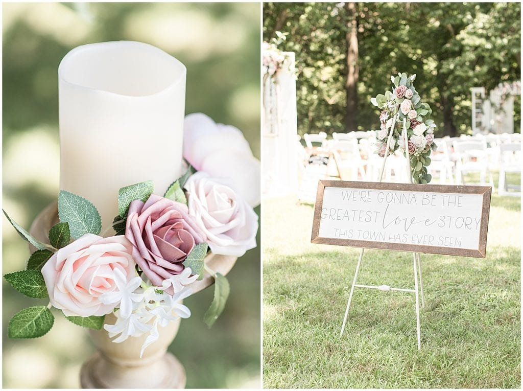Wedding ceremony at Wea Creek Orchard in Lafayette, Indiana