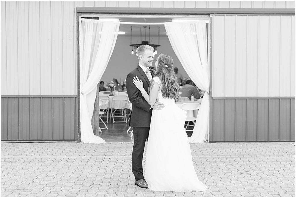 First Dance at The Blessing Barn in Lafayette, Indiana