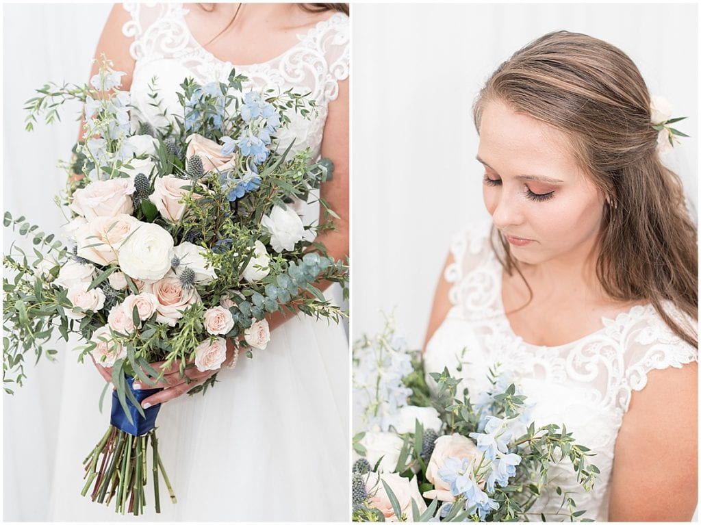 Bridal Portraits at The Blessing Barn in Lafayette, Indiana
