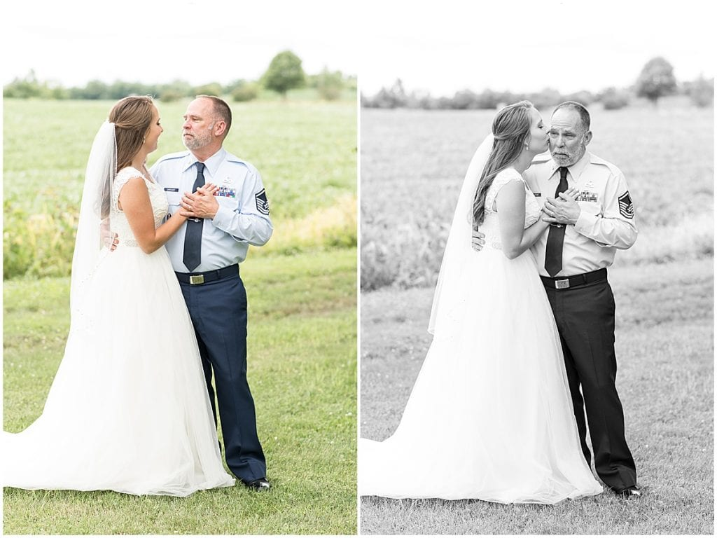 First Look with Dad at The Blessing Barn in Lafayette, Indiana