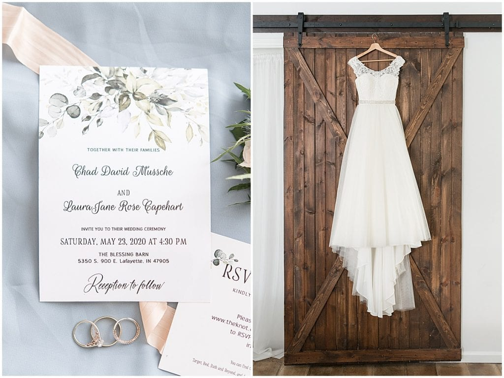 Wedding Details at The Blessing Barn in Lafayette, Indiana