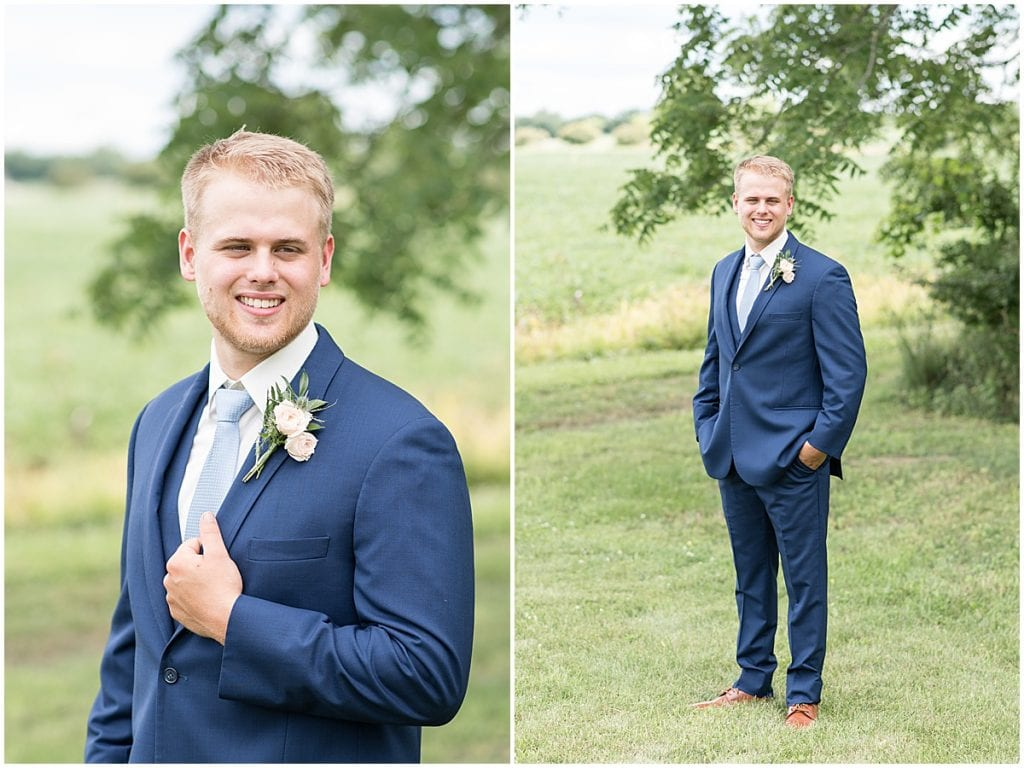 Groom Portraits at The Blessing Barn in Lafayette, Indiana