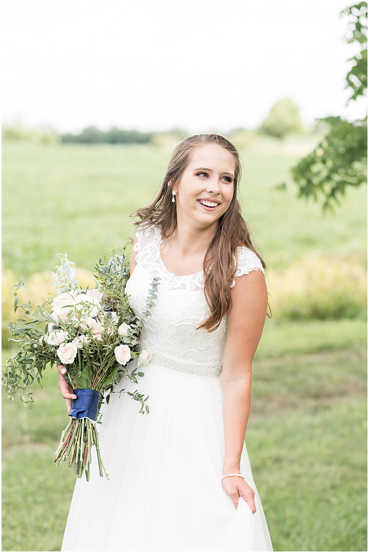 Bridal Portrait at The Blessing Barn in Lafayette, Indiana
