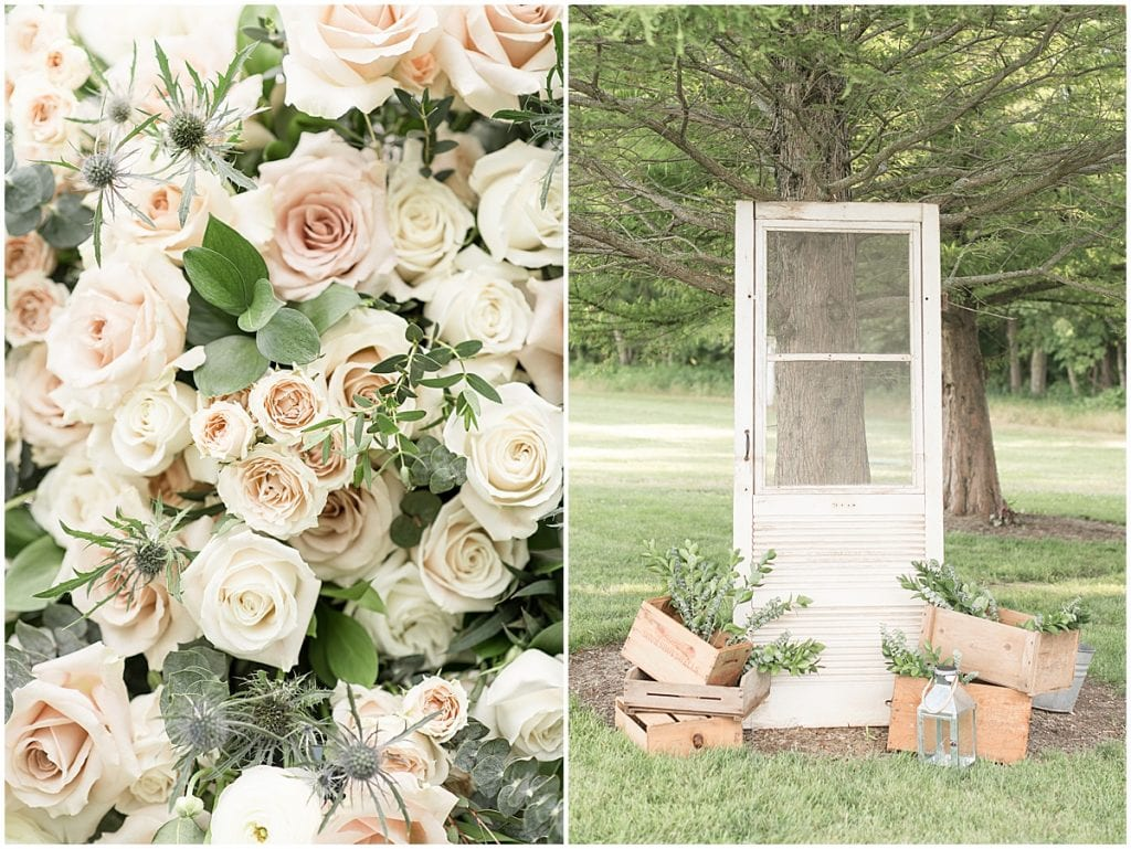 Wedding Ceremony Details at The Blessing Barn in Lafayette, Indiana