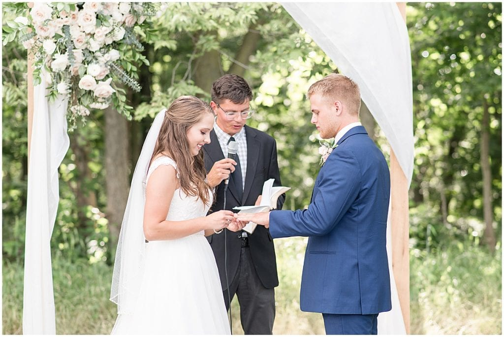 Wedding Ceremony at The Blessing Barn in Lafayette, Indiana