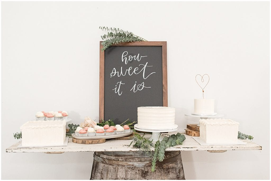 Reception Details at The Blessing Barn in Lafayette, Indiana