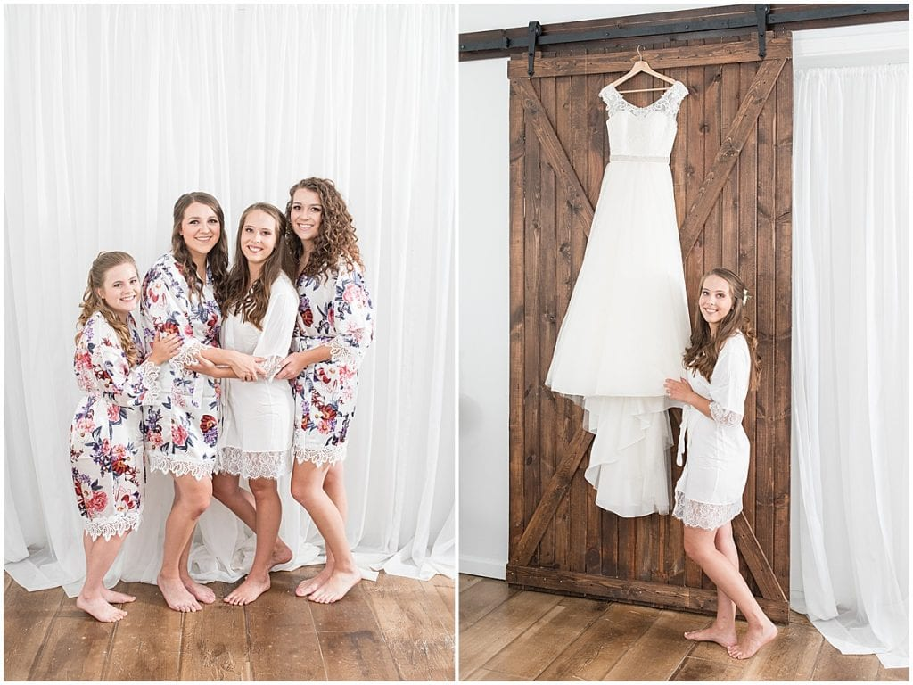 Bridal Party at The Blessing Barn in Lafayette, Indiana