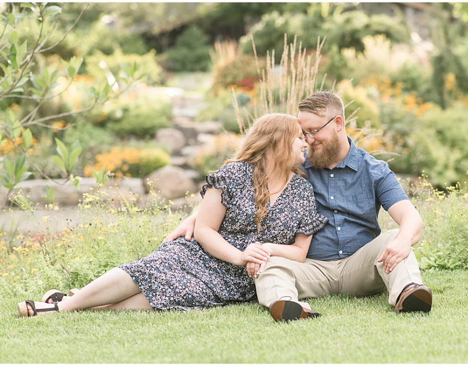 Engagement photos at Hamstra Gardens in Demotte, Indiana