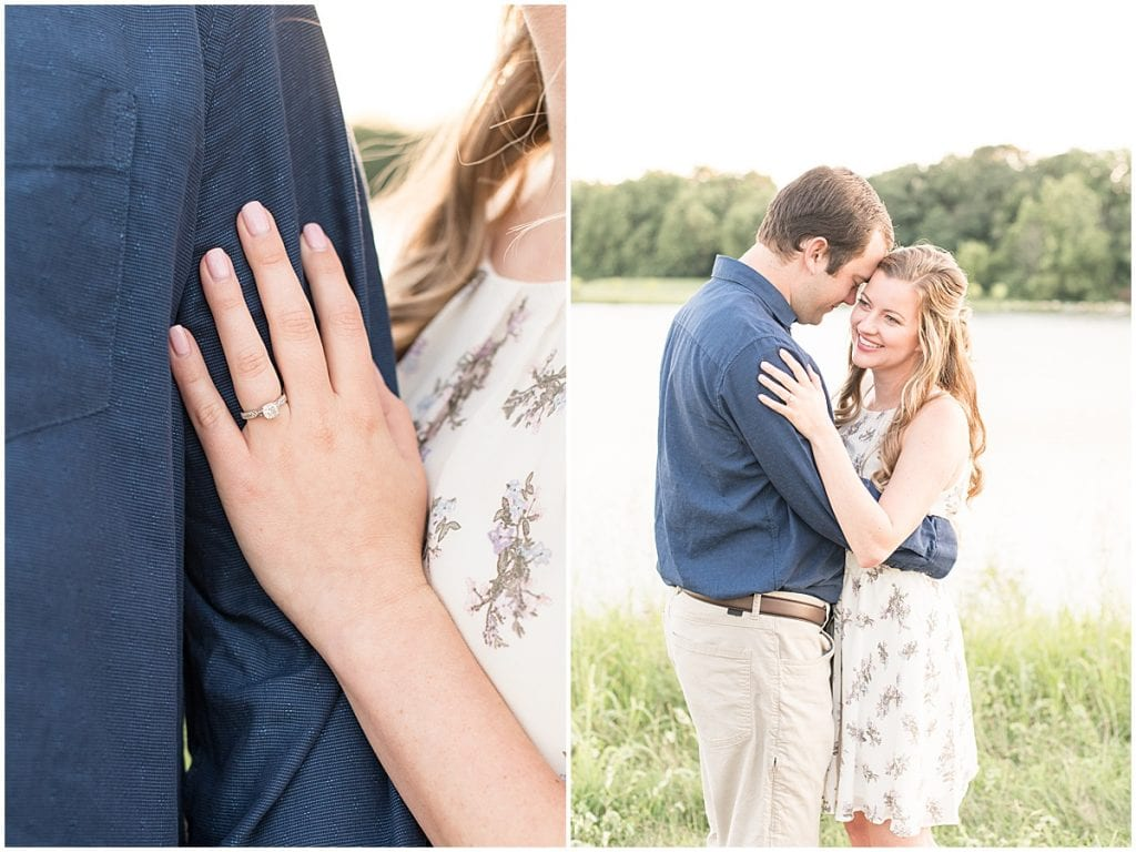 Ring detail from Lakefront engagement photos in Lafayette, Indiana