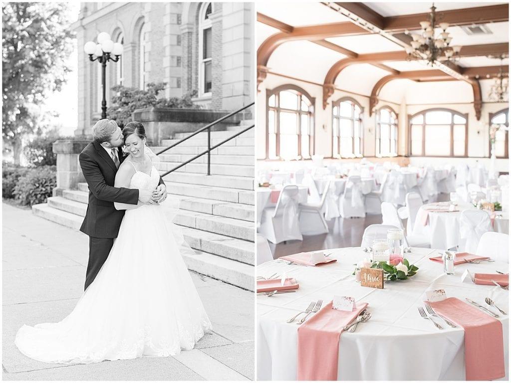 Reception of Spohn Ballroom wedding in Goshen, Indiana