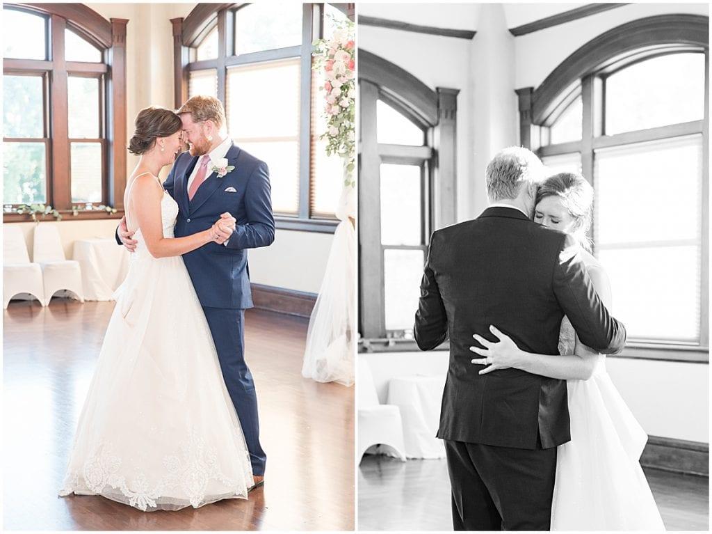 First dance at Spohn Ballroom wedding in Goshen, Indiana