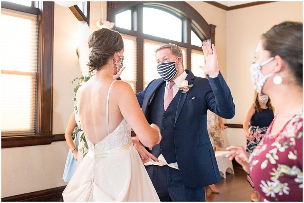 Reception at Spohn Ballroom wedding in Goshen, Indiana