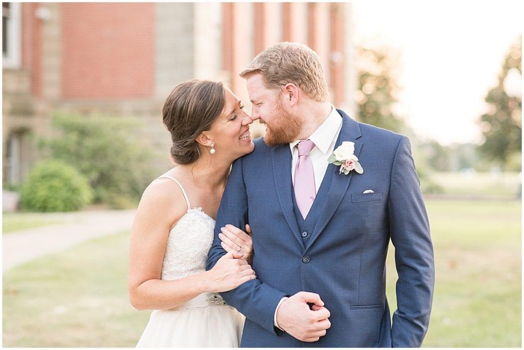 Couple photos at Spohn Ballroom wedding in Goshen, Indiana