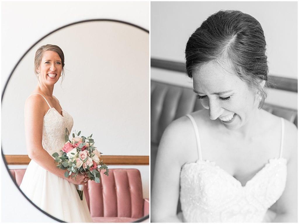 Bridal portraits at Spohn Ballroom wedding in Goshen, Indiana