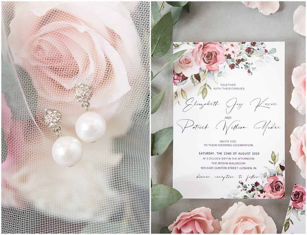 Wedding details from Spohn Ballroom wedding in Goshen, Indiana
