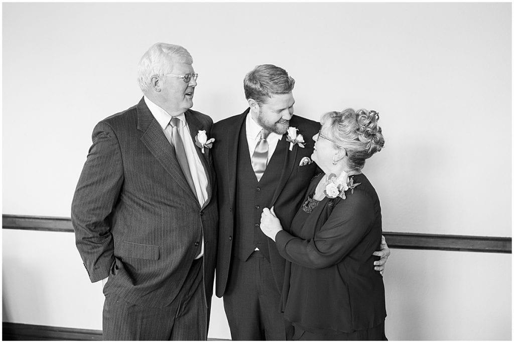 Parents of groom from Spohn Ballroom wedding in Goshen, Indiana