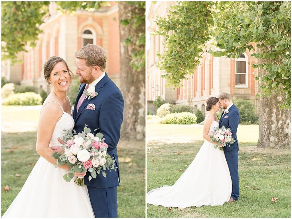 Bride and groom of Spohn Ballroom wedding in Goshen, Indiana