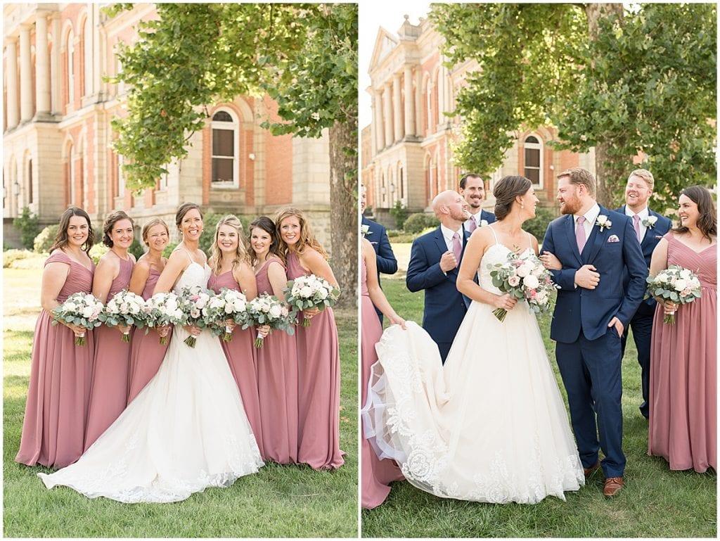 Wedding party at Spohn Ballroom wedding in Goshen, Indiana