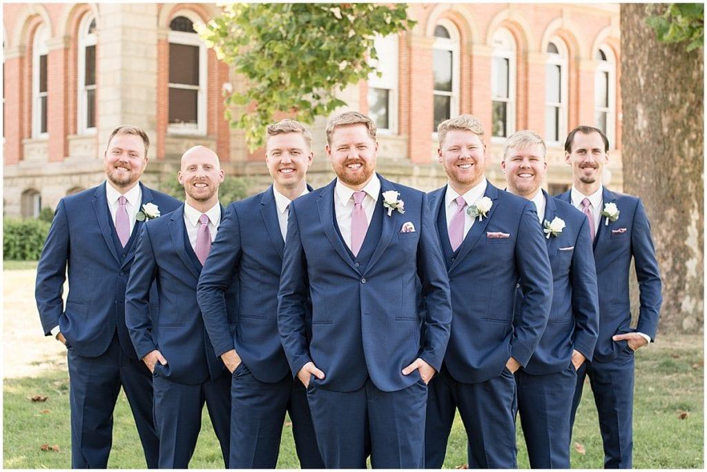 Groomsmen at Spohn Ballroom wedding in Goshen, Indiana