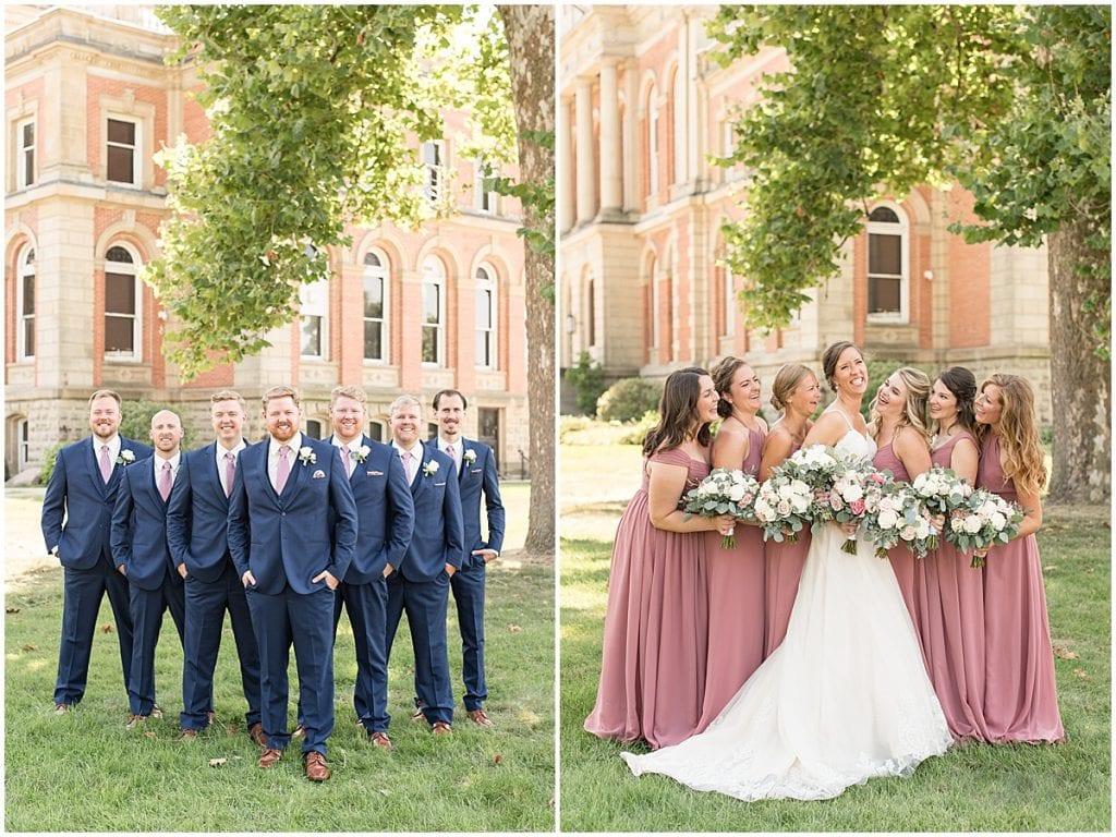 Groomsmen and Bridesmaids from Spohn Ballroom wedding in Goshen, Indiana