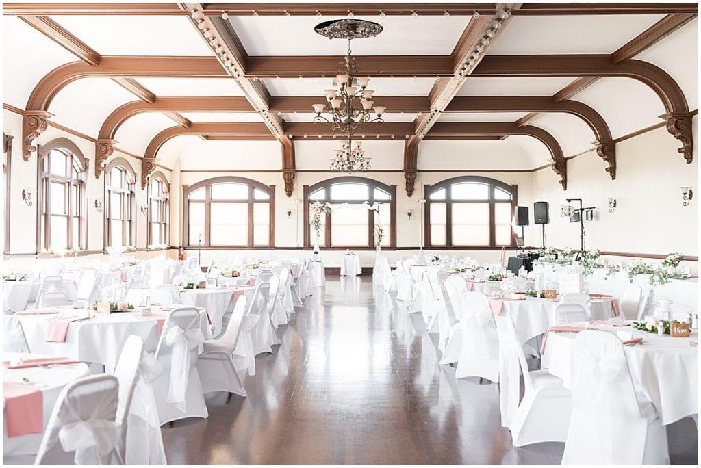 Ceremony venue at Spohn Ballroom wedding in Goshen, Indiana