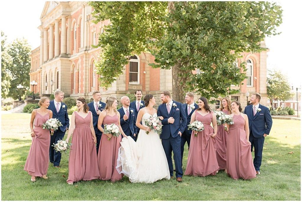 Wedding party of Spohn Ballroom wedding in Goshen, Indiana