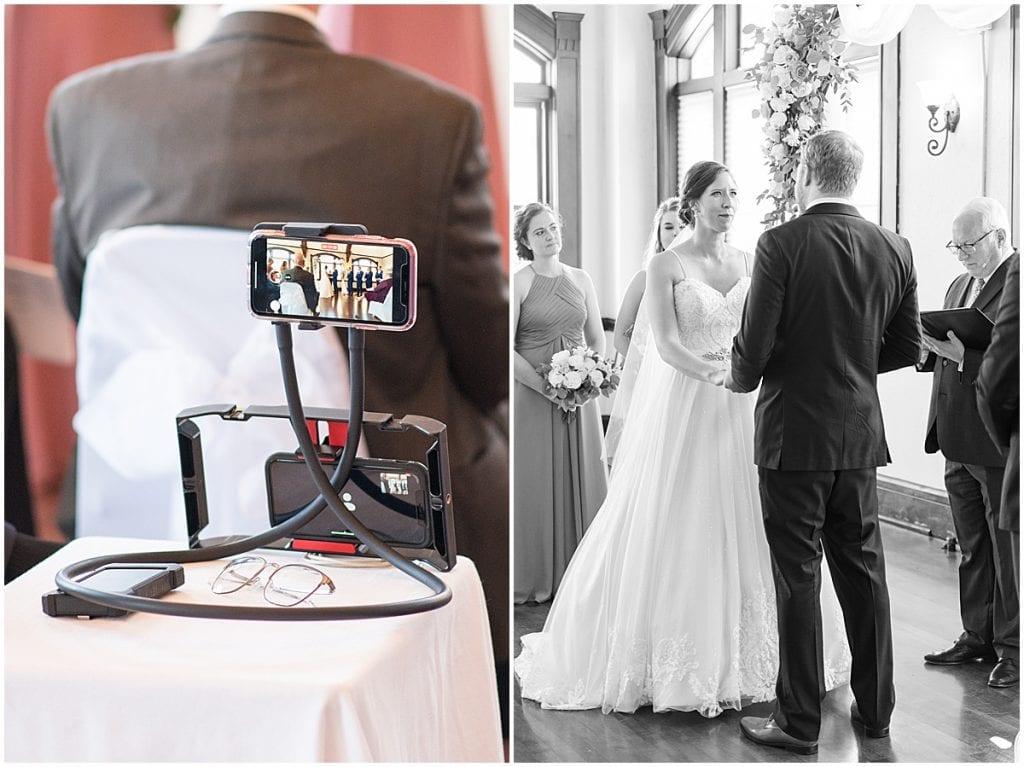 Ceremony of Spohn Ballroom wedding in Goshen, Indiana