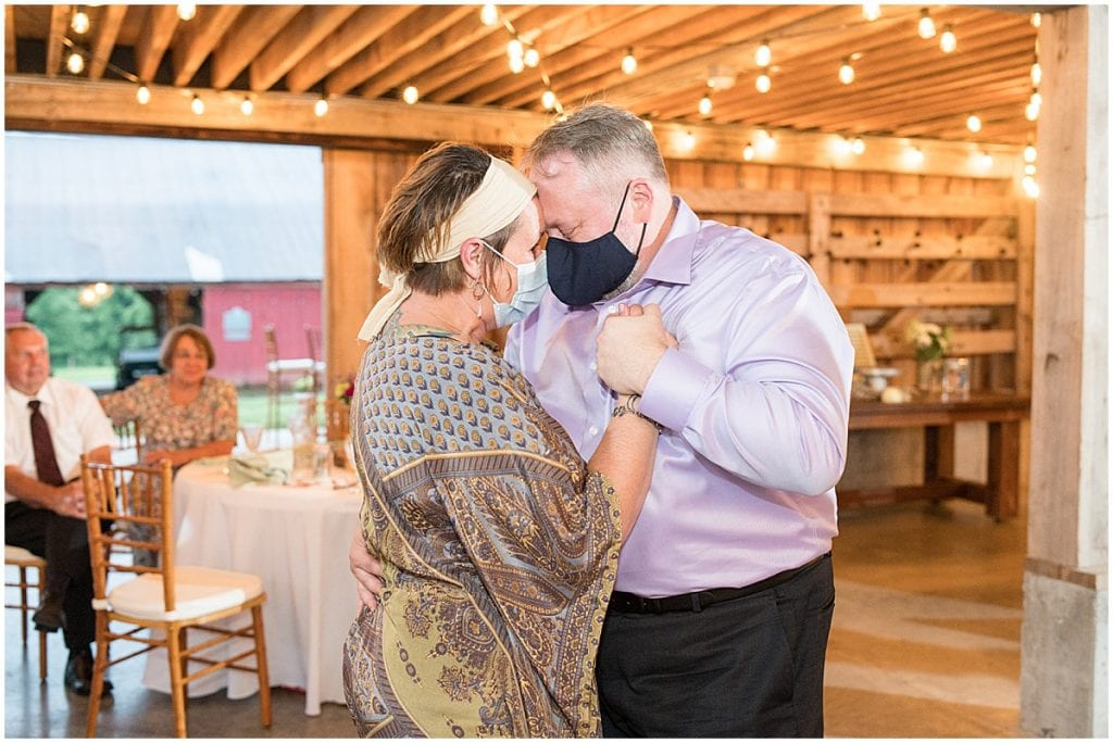 Wedding reception at Whippoorwill Hill in Bloomington, Indiana