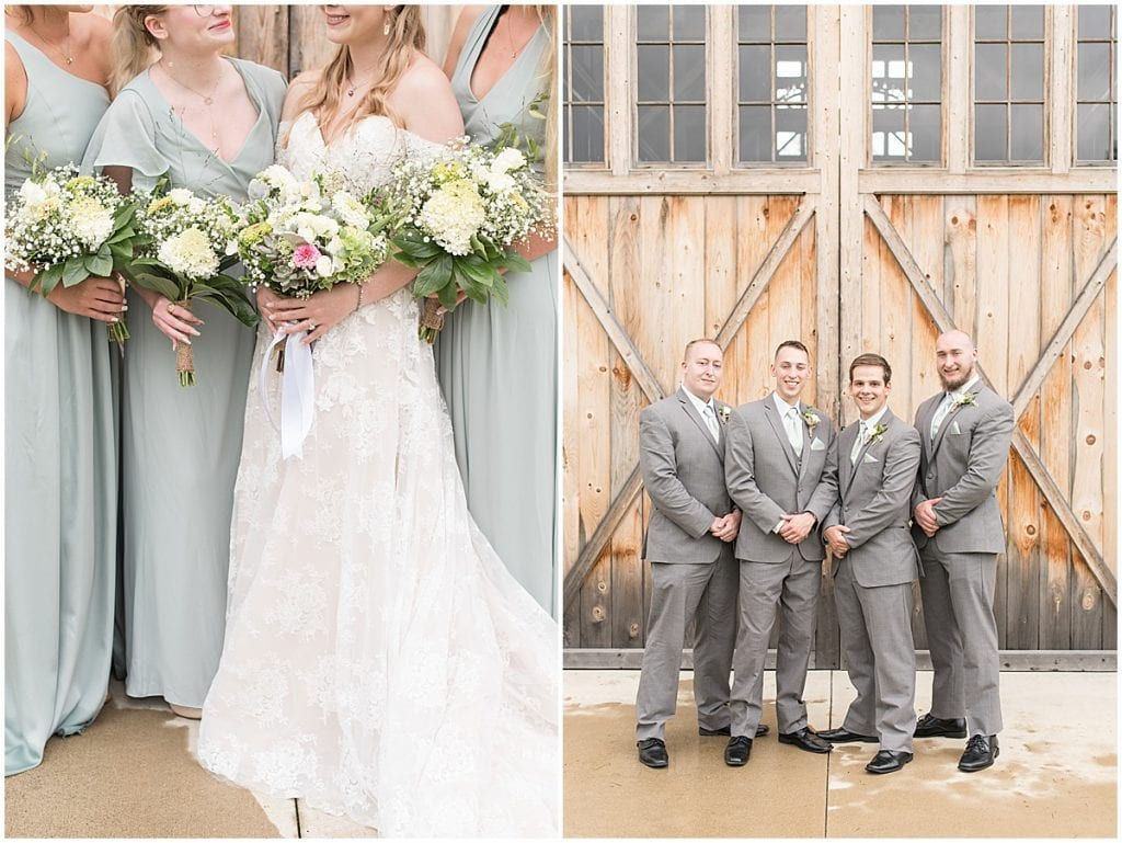 Bridal party at wedding at Whippoorwill Hill in Bloomington, Indiana