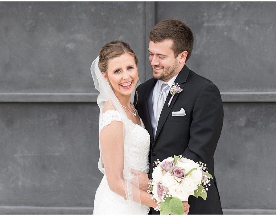 Bride and groom at Bel Air Events Wedding in Kokomo, Indiana