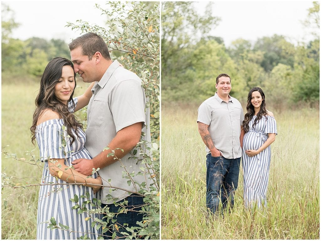 Maternity photos at Fairfield Lakes Park in Lafayette, Indiana