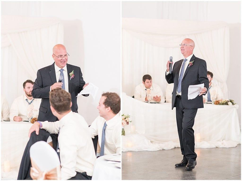Reception photos at Meadow Springs Manor wedding in Francesville, Indiana