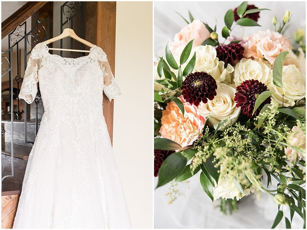 Detail photos at Meadow Springs Manor wedding in Francesville, Indiana