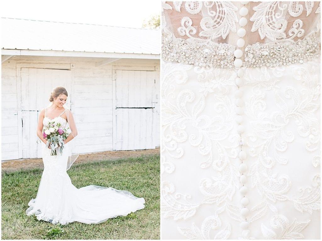 Bride portrait in Rensselaer, Indiana at the Jasper County fairgrounds