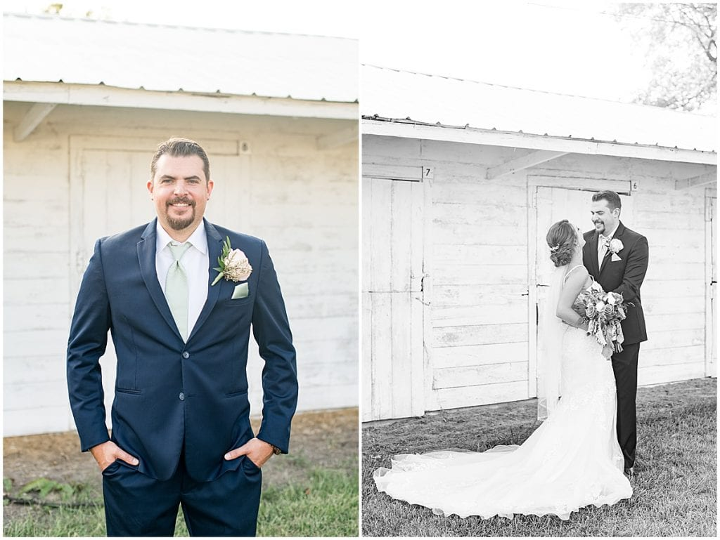 Bride and groom just married photos in Rensselaer, Indiana at the Jasper County fairgrounds