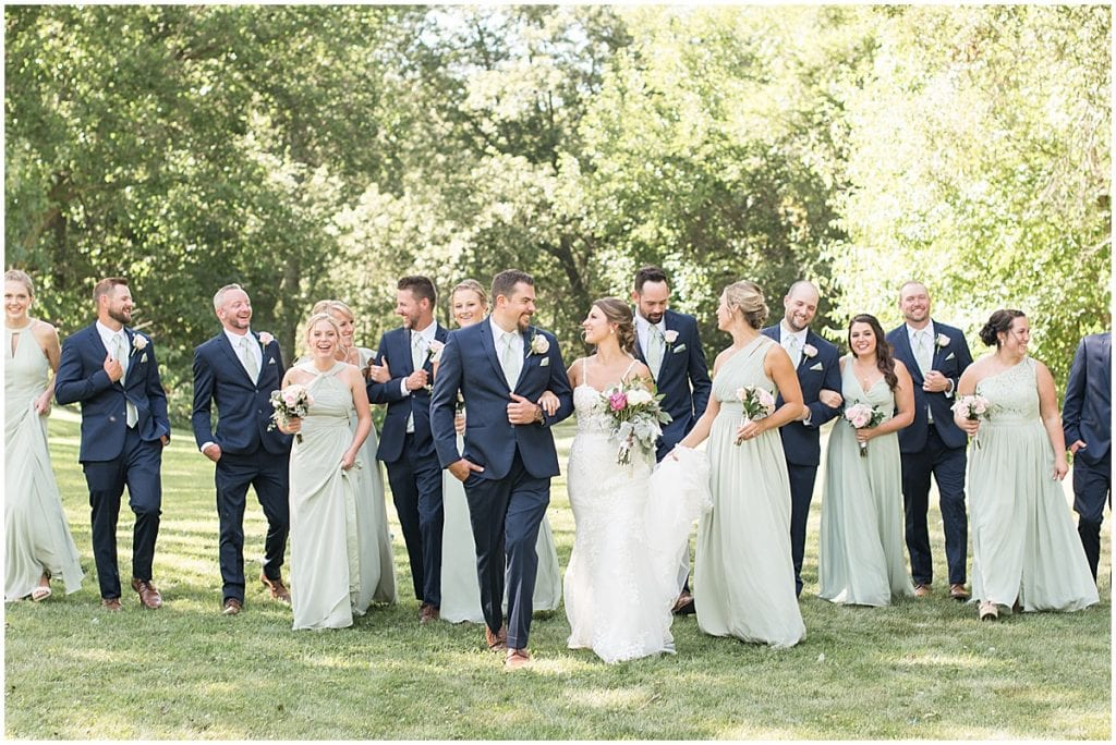 Bridal party at Rensselaer, Indiana wedding