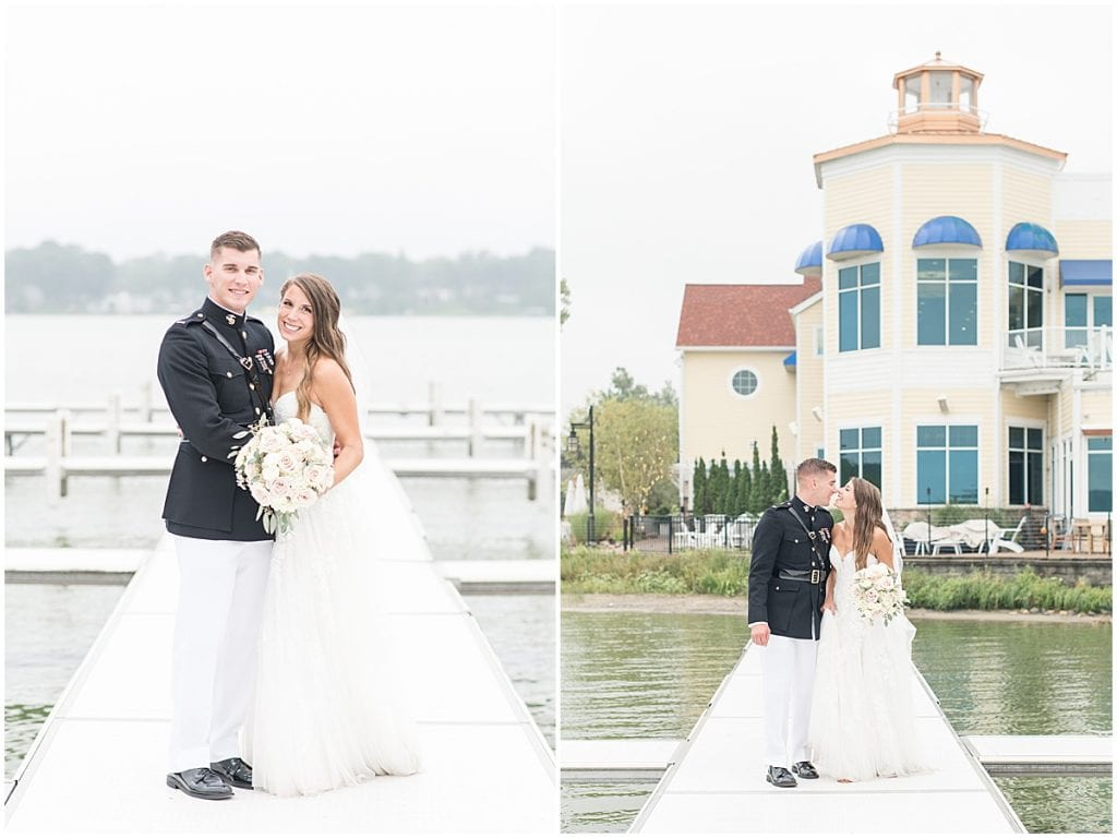 Couple portraits at the Lighthouse Restaurant in Cedar Lake, Indiana